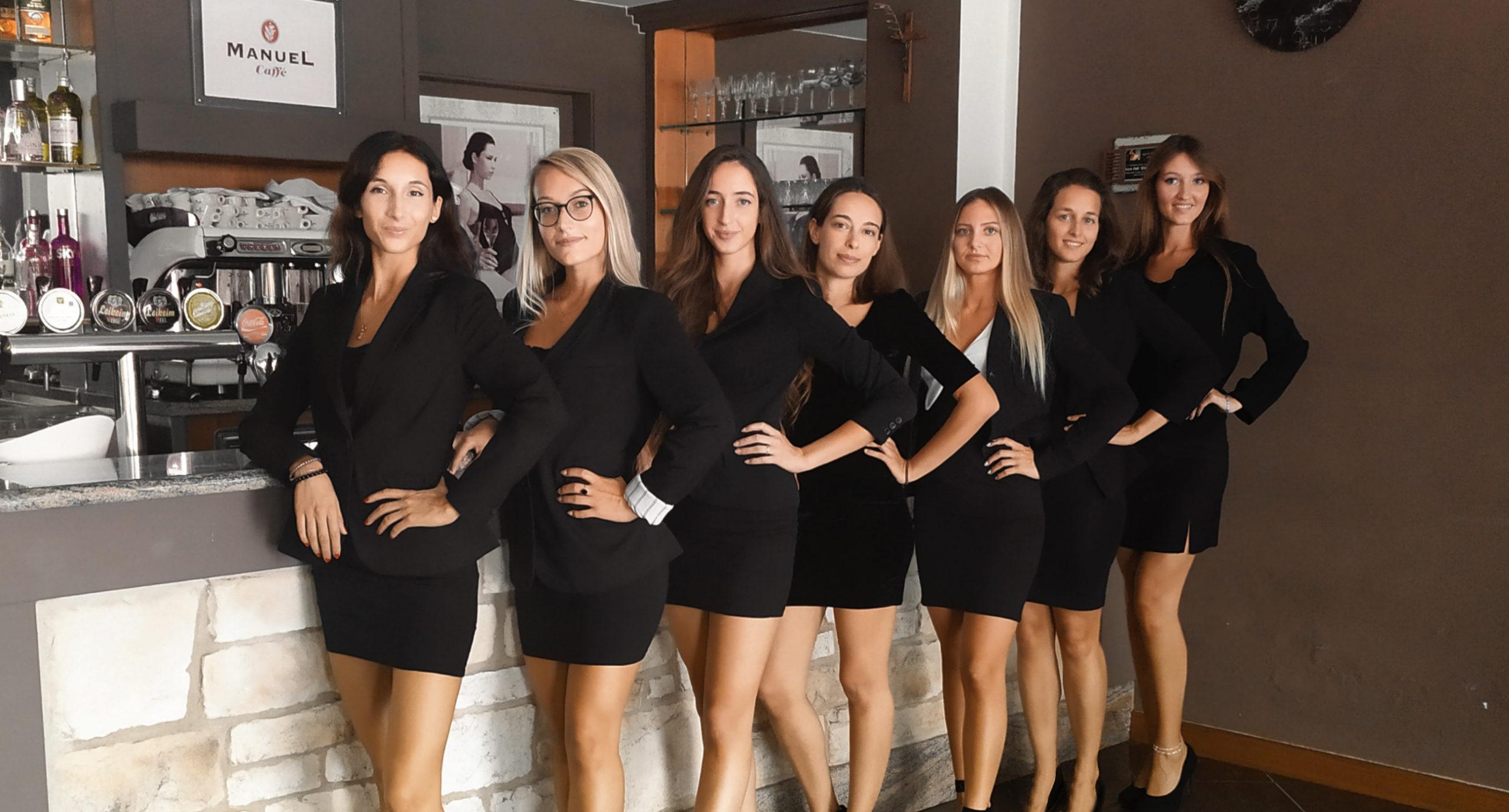 Shooting Angela, Anna, Chiara, Francesca, Giorgia, Martina e Silvia